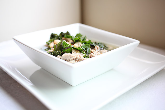 main courses  Recipe: Turkey Sausage, Kale, and White Bean Soup