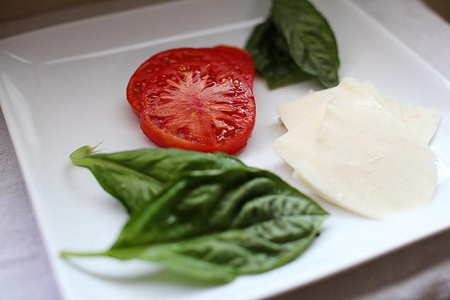 main courses  Recipe: Tomato, Basil, and Mozzarella Panini