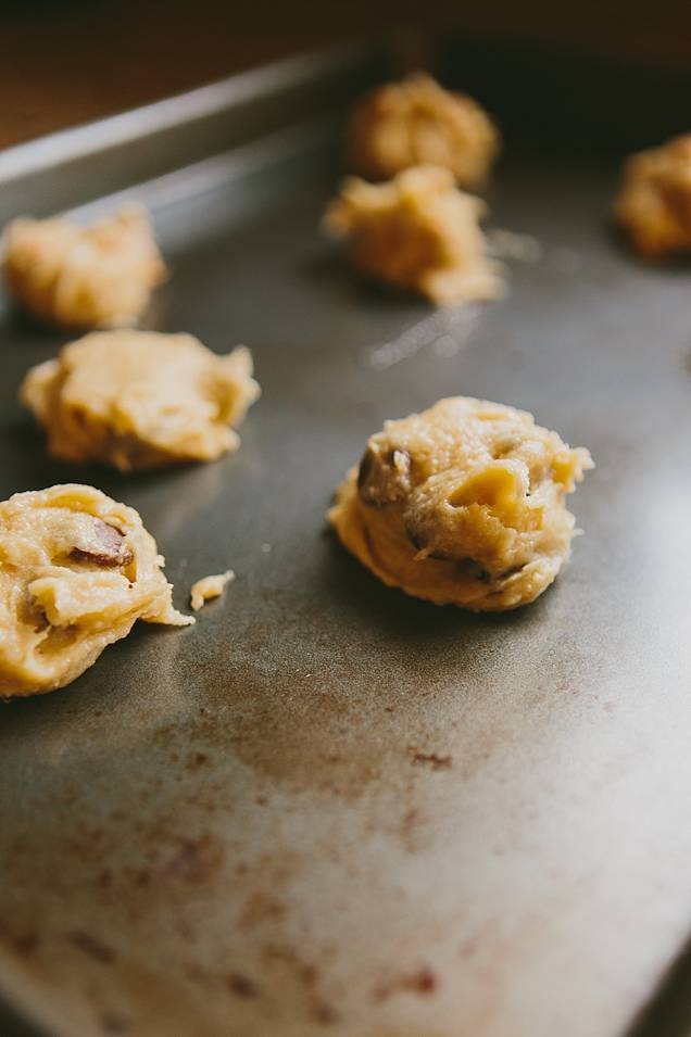 featured desserts  Recipe: Chocolate Chip and Butterscotch Chip Cookies