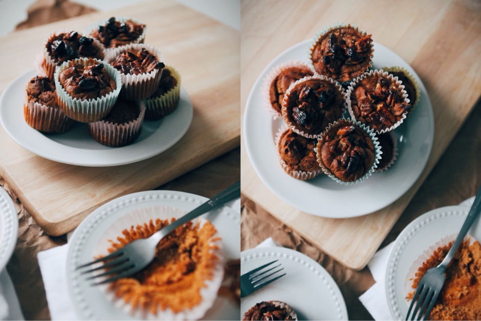featured breakfast  Recipe: Paleo Pumpkin Muffins with Maple Pecans