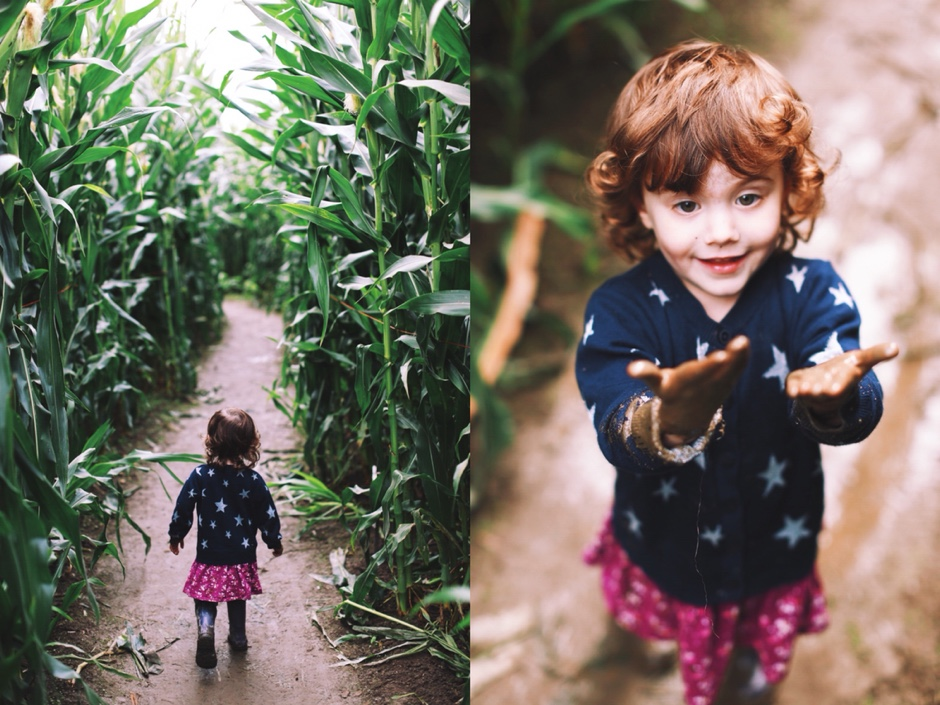 girl in corn maze