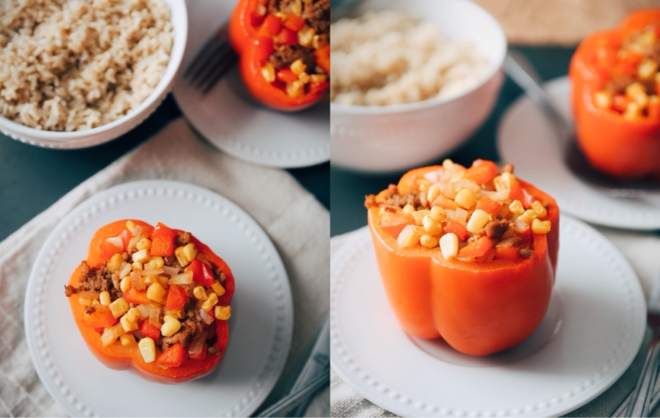 main courses featured  Recipe: Taco Style Stuffed Peppers