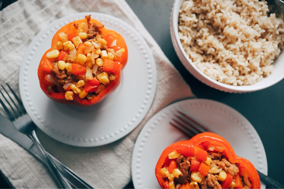 taco-style stuffed peppers