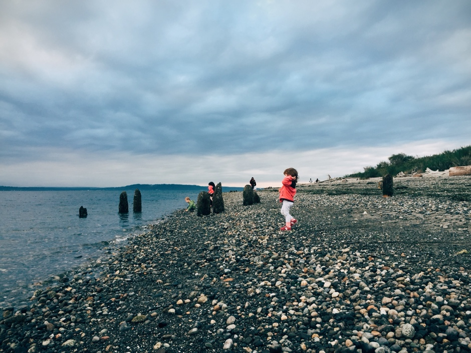 throwing rocks at richmond beach