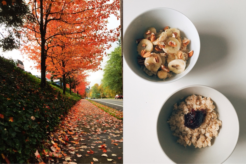 autumn morning breakfast
