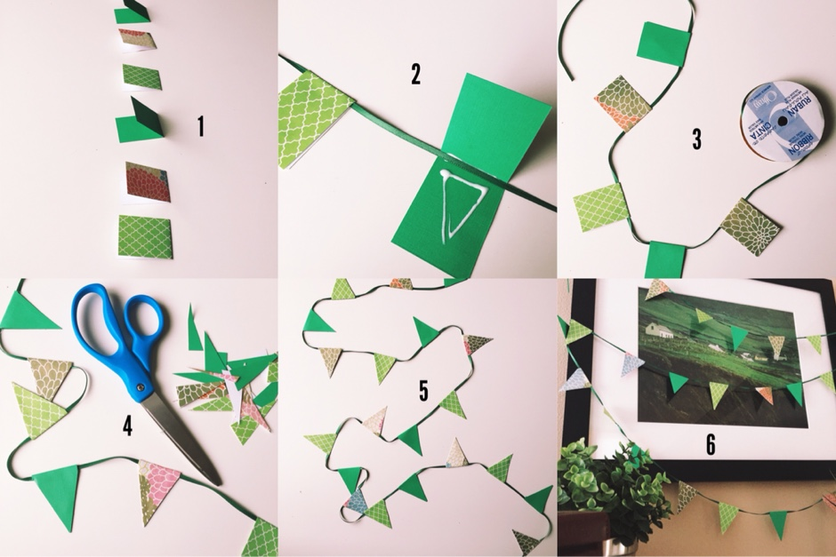 diy triangle paper bunting