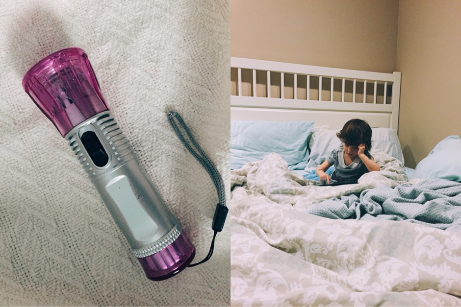 purple flashlight