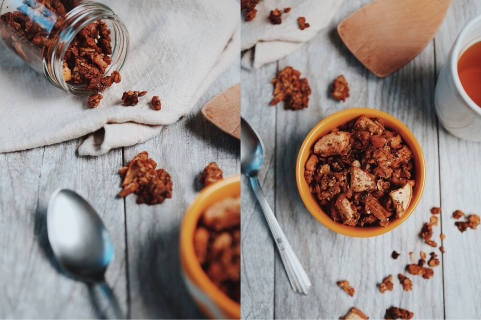 featured breakfast  Recipe: Apple Cinnamon Granola