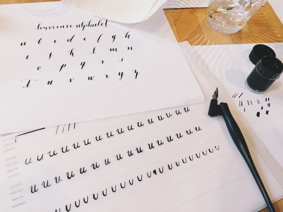 featured diy  Learning Calligraphy