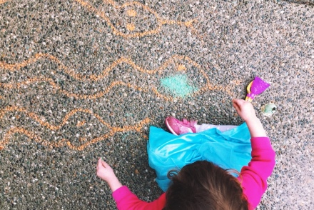 sidewalk chalk snakes